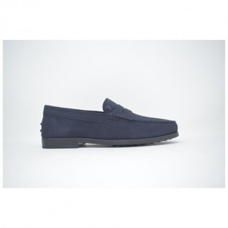 Moccasin In Blue Suede