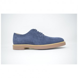 Derby In Blue Suede