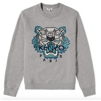 LEOPARD TIGER EMBROIDERED SWEAT