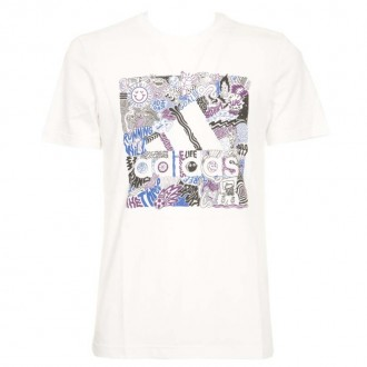 White T-shirt With Print And Logo