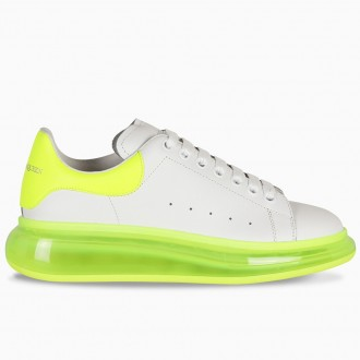 White And Fluorescent Oversized Sneaker