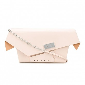 Light Pink Leather Snatched Bag