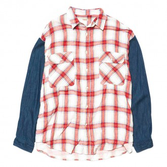 Country Check x 5.5ozDenim Grande Work Shirt White