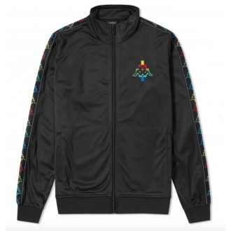 X KAPPA MULTICOLOUR TAPED LOGO TRACK TOP