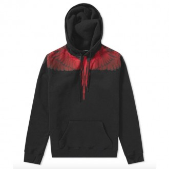 WINGS HOODY BLACK & RED