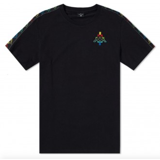 X KAPPA MULTICOLOUR TAPED LOGO TEE