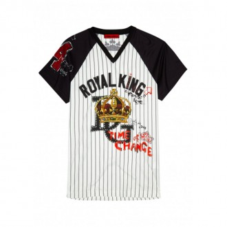 Royal King printed cotton T-shirt