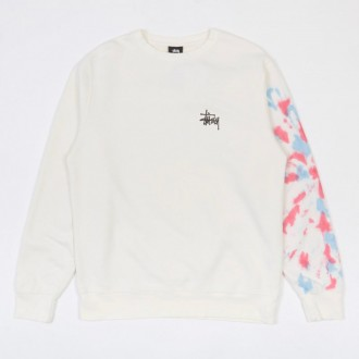 Basic Stussy TD Crewneck Sweatshirt - Natural/Red