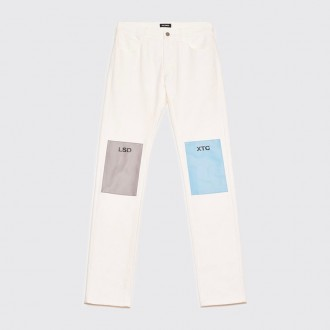 REGULAR FIT JEANS LSD-XTC PATCHES CREAM WHITE