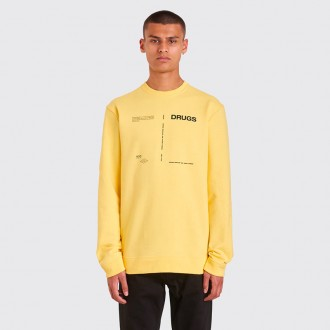DRUGS REGULAR ROUND NECK SWEATSHIRT YELLOW