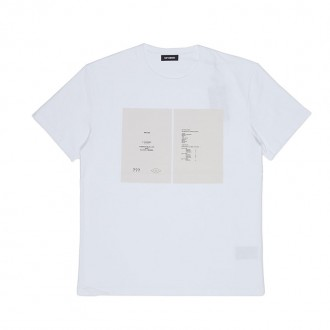 White Slim Fit T-shirt Drugs Cover