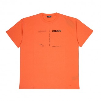 Orange Regular Fit T-shirt Drugs