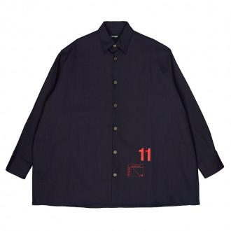 Dark Navy Denim Easy Fit Shirt Jacket