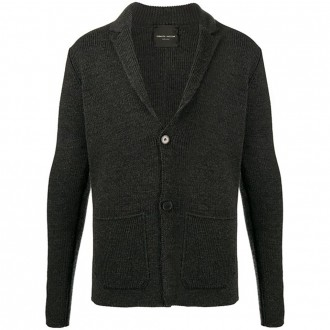 Gray Wool Cardigan