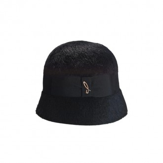 Melousine Felt Cloche, Black