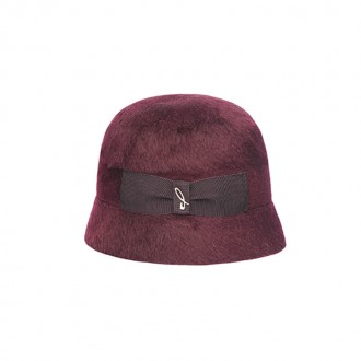 Melousine Felt Cloche, Bordeaux