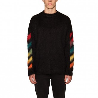 Diag Brushed Mohair Sweater