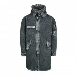 Stone Island Shadow Project 70404 FISHTAIL PARKA WITH GATEWAY POCKETS (DAVID-C, TC+SILVER MIST TREATMENT)