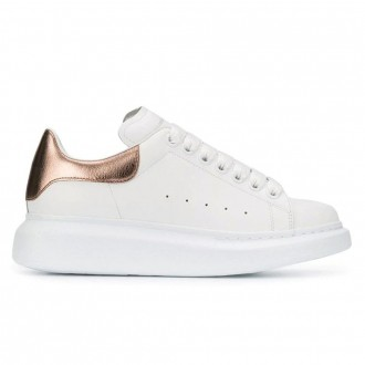 White Leather Oversized Sneakers