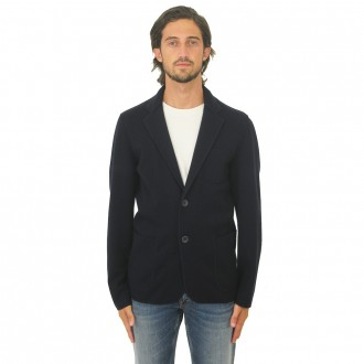 Jacket With Two Buttons Navy