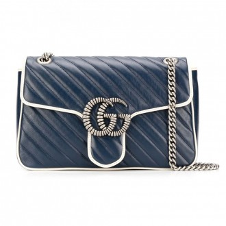 Bag Marmont Blue Agata/myst. White