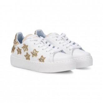 Gold Stars Leather Sneaker