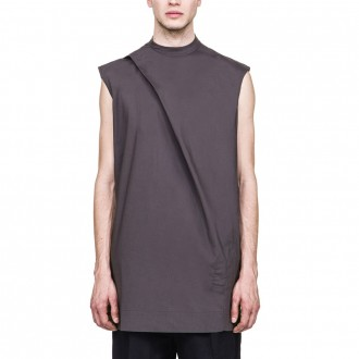 RICK OWENS DRKSHDW SS17 WALRUS SLEEVELESS HIKED TUNIC IN