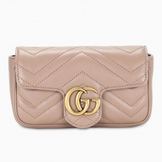 Super Mini Gg Marmont Bag In Pink