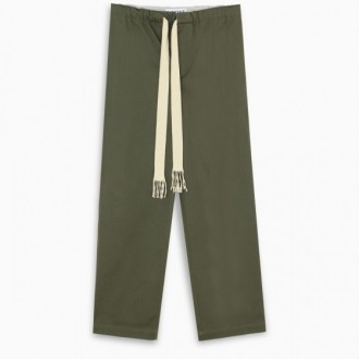 Military green jogging pants