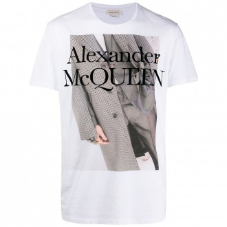 White T-shirt With Atelier Print