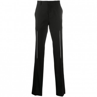 Black Trouser With Carved Effect Pleats