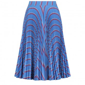 Multi-line pleated skirt