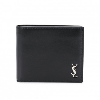 Logo Plaque Bi-fold Wallet