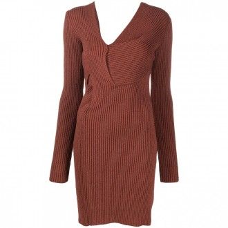 cut-out knitted dress