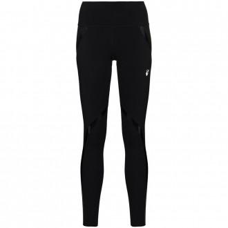 Black Leggings With Shiny Stripes