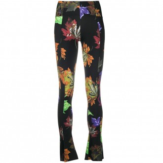 Printed Leggings With Flared Bottom