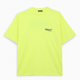 Political Campaign T-shirt Fluo Yellow / Black