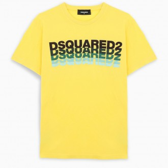 Yellow T-shirt With Multiple Logo