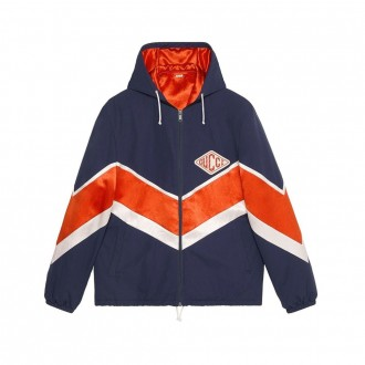 Nylon jacket with patch