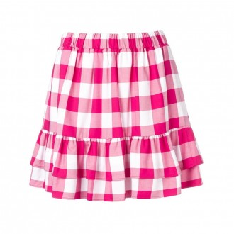 Checked ruffled skirt