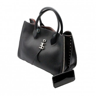 Medium Bag With Studs Black Color