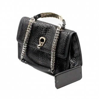 Bag in Python Print and Black Crystals