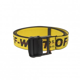 Yellow Man Industrial Belt With Black Logo