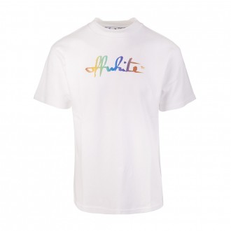 White Woman T-shirt With Rainbow Logo