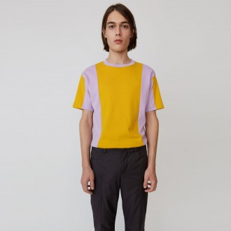 Contrasting panel t-shirt