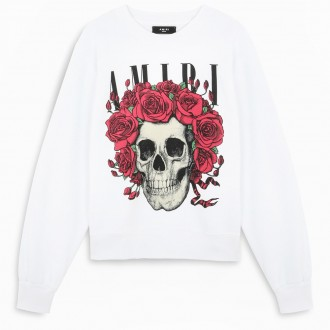White Sweatshirt With Skull
