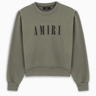 Military Green Sweatshirt With Logo