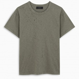 Vintage Effect Military Green T-shirt