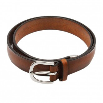 Bull Soft Leather Belt With Tan Color Toe