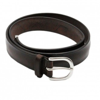 Bull Soft Leather Belt With Dark Brown Tip